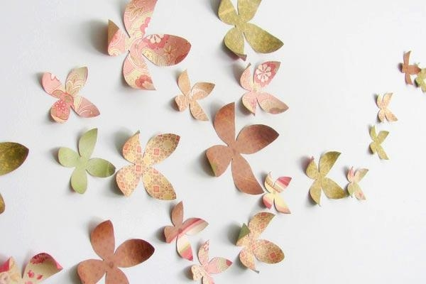 Flower Wall Art Decor Prodigious Diy Ideas 2015 24 Intended For Flowers 3D Wall Art (View 13 of 20)