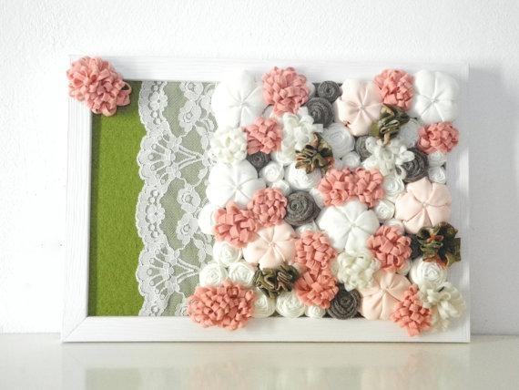 Flower Wall Art Decor – Sellabratehomestaging Pertaining To 3D Flower Wall Art (Image 10 of 20)