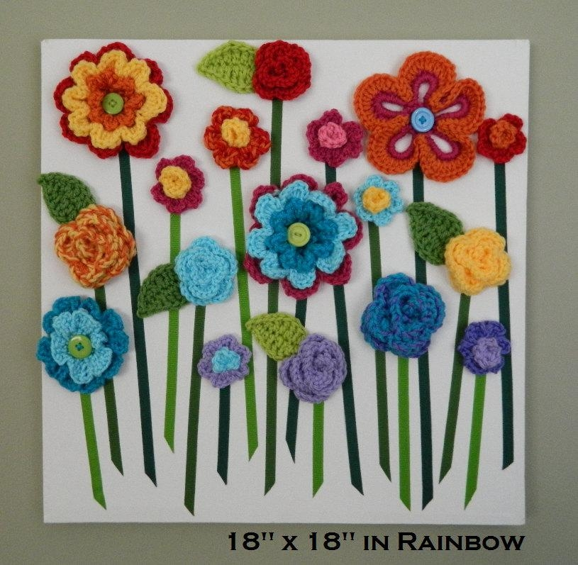Flower Wall Hanging 3D Flower Wall Art Baby Girl Nursery Intended For 3D Flower Wall Art (Image 13 of 20)