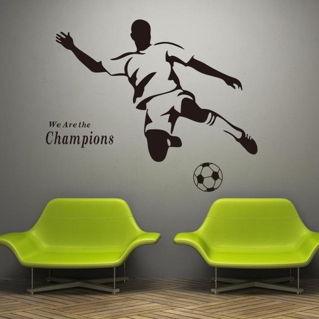 Football Boy Wallpaper 3D Wall Stickers 8257 For Kids Room Vinyl Intended For Football 3D Wall Art (Image 10 of 20)