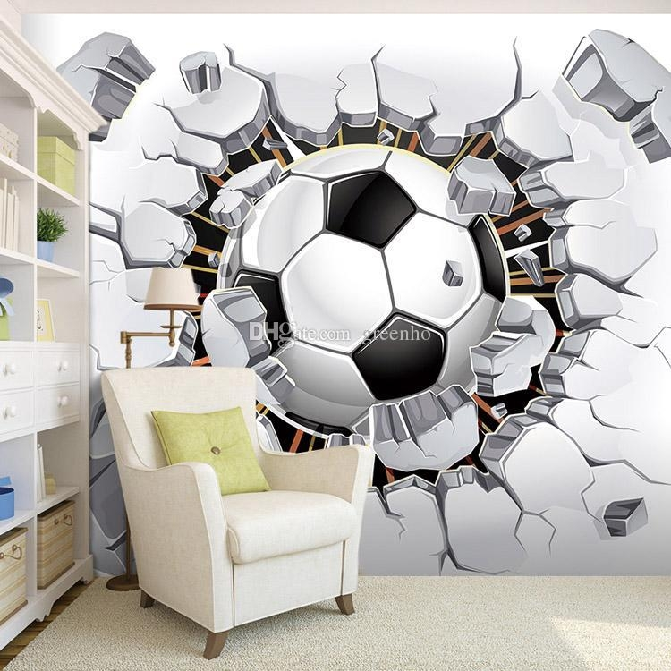 Football Photo Wallpaper Soccer Wall Mural 3D Wallpaper Passion In Football 3D Wall Art (Image 11 of 20)