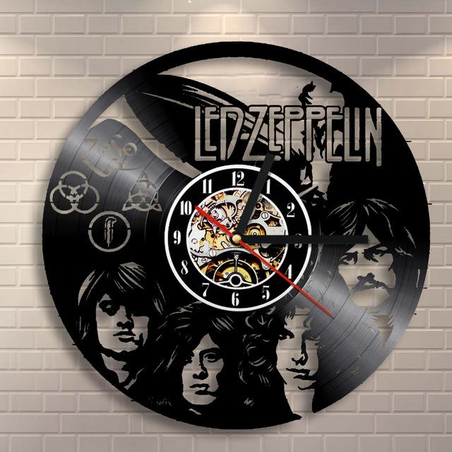 Free Shipping 1Piece Led Zeppelin Vintage Vinyl Lp Record Wall Pertaining To Led Zeppelin 3D Wall Art (View 12 of 20)
