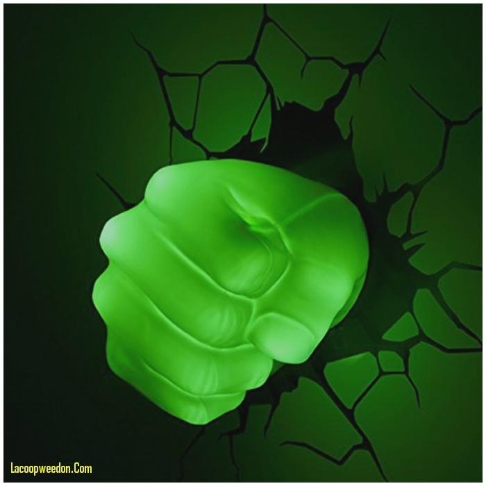 Fresh 3D Wall Art Night Light – Lacoopweedon Regarding Hulk Hand 3D Wall Art (Image 7 of 20)