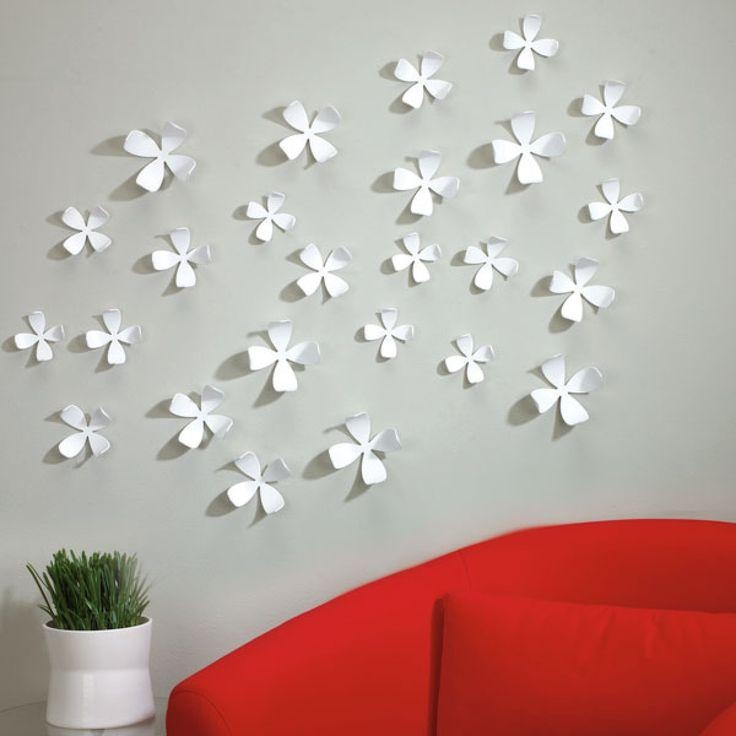 Fresh Design Wall Flowers Decor With Art – Decoration Inside Umbra 3D Flower Wall Art (View 2 of 20)
