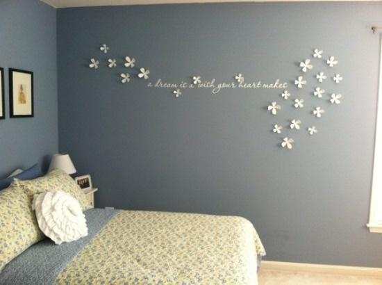 Fresh Design Wall Flowers Decor With Art – Decoration Throughout Umbra 3D Wall Art (View 4 of 20)