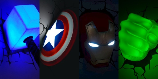 Giveaway: 3D Wall Art Avengers Nightlight – Nerd Reactor Regarding Avengers 3D Wall Art (Image 12 of 20)