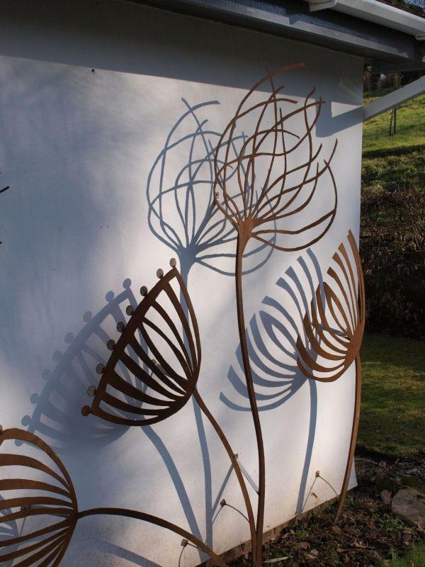 Great Metal Garden Wall Art Outdoor 17 Best Ideas About Outdoor With 3D Garden Wall Art (Photo 2 of 20)