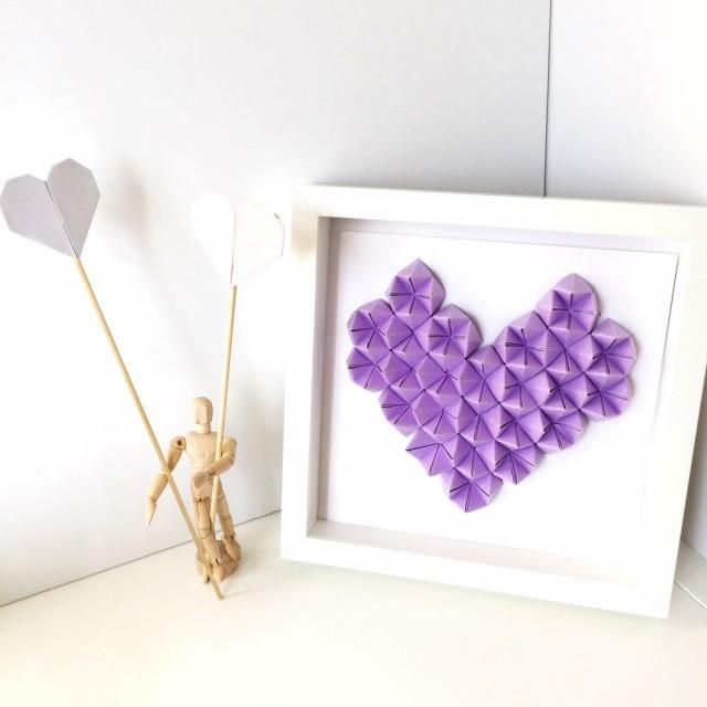 Heart 3D Origami Wall Art Pertaining To Heart 3D Wall Art (Image 12 of 20)