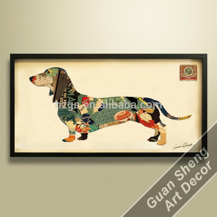 High Quality 3D Animal Photos Dogs Printing Art 3D Wall Art Canvas With Dogs 3D Wall Art (Image 13 of 20)