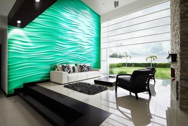 Highland Beach – Contemporary – Living Room – Miami  3Dwalls For Painting 3D Wall Panels (Image 11 of 20)