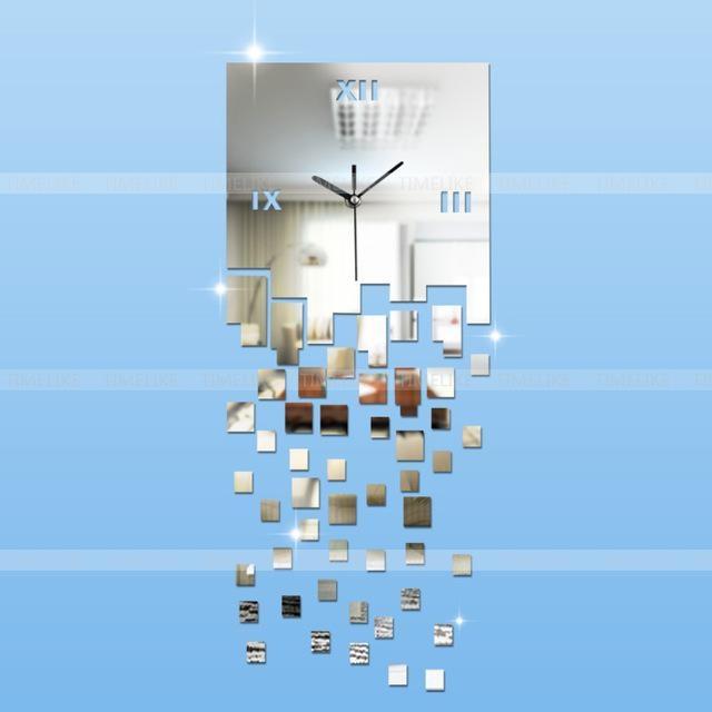 Home Decoration! 3D Modern Wall Art Acrylic Quartz Clock Safe Diy Inside 3D Modern Wall Art (Image 11 of 20)