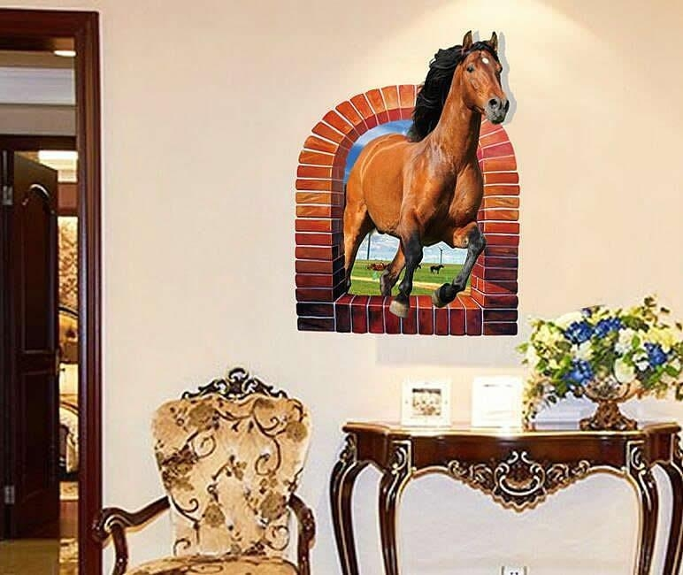 Horse Wall Stickers | Wall Decals Ireland | Wall Art | Boys Room Regarding 3D Horse Wall Art (Image 12 of 20)