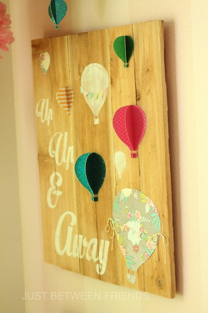 Hot Air Balloon Wall Art – Just Between Friends Intended For Air Balloon 3D Wall Art (View 9 of 20)