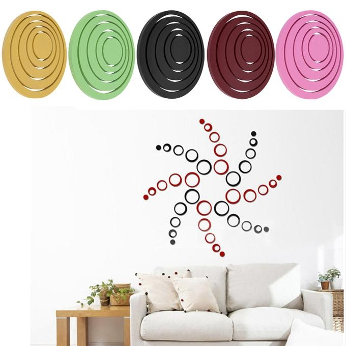 Hot Circles Stickers 5 Rings 3D Wall Art Decals Home Decor With Circles 3D Wall Art (Image 14 of 20)