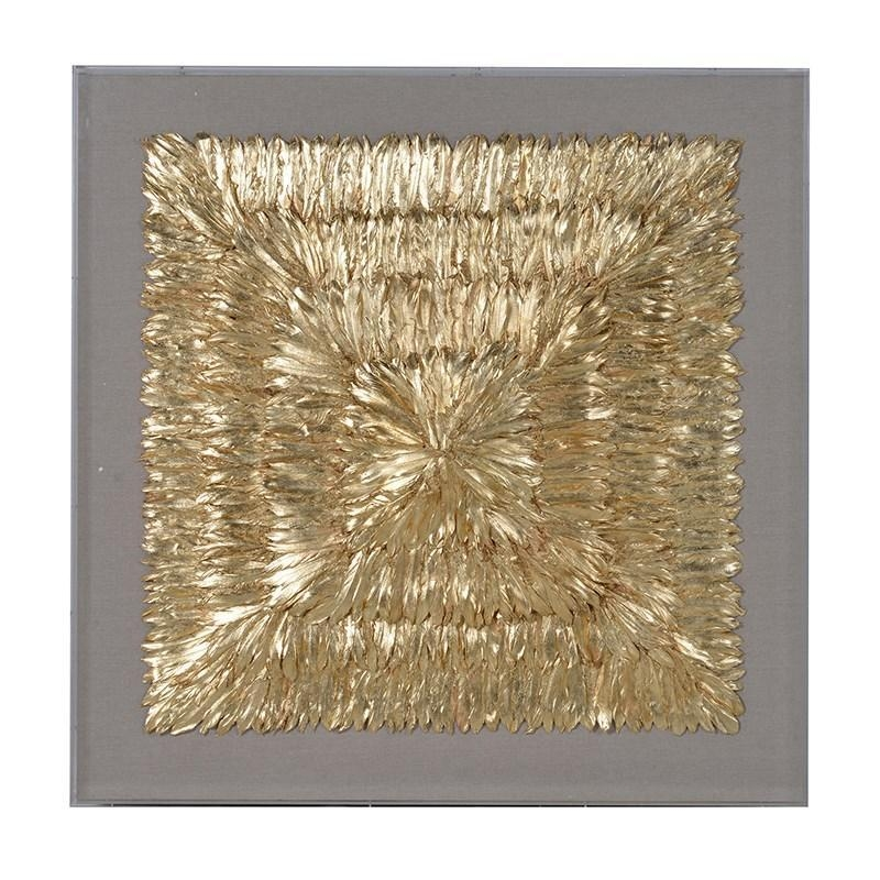 Huge Framed Gold 3D Feather Wall Art | Mulberry Moon Within Framed 3D Wall Art (Image 12 of 20)