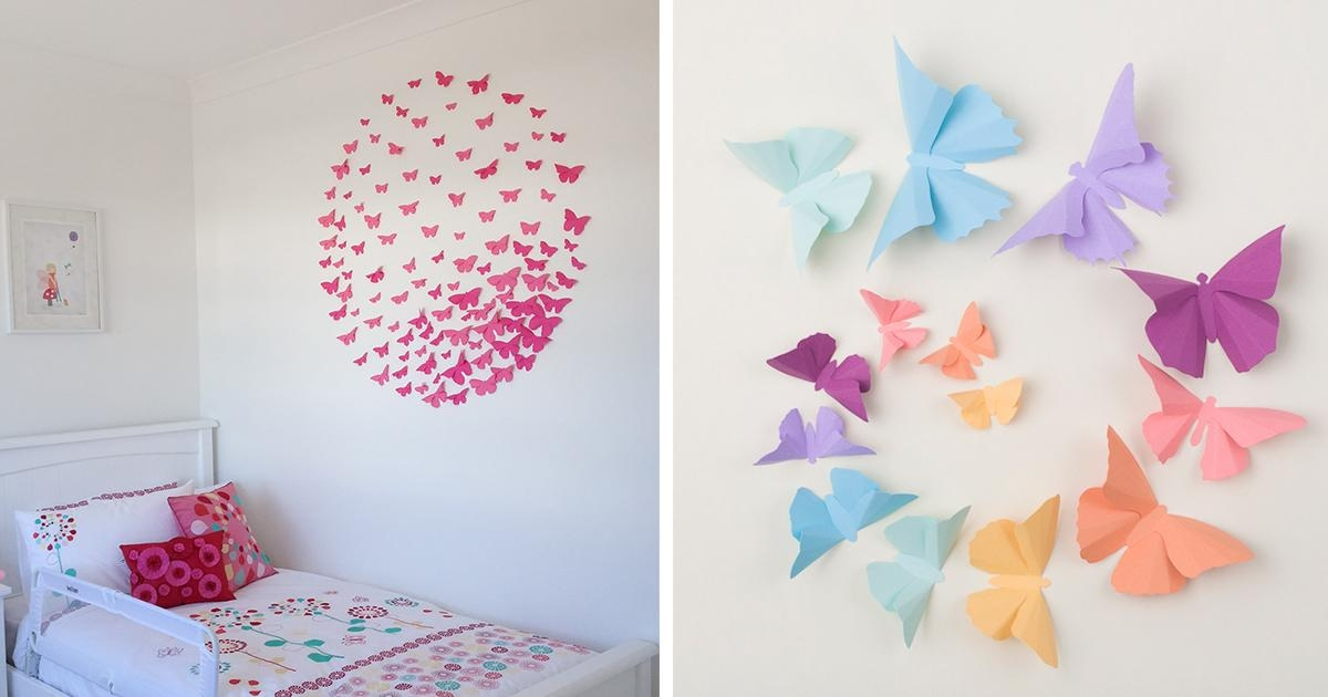 I Make 3D Paper Wall Decorations To Fix Boring, Flat Walls | Bored For 3D Wall Art With Paper (Photo 1 of 20)