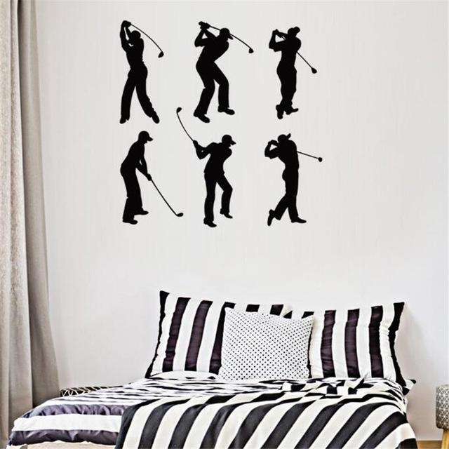 Idfiaf Crative Play Golf Vinyl Wall Stickers 3D Visual Decals Within 3D Visual Wall Art (Image 16 of 20)