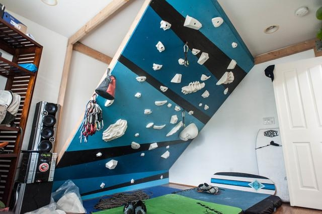 Indoor Climbing Wall – Modern – Home Gym – Hawaii For Home Bouldering Wall Design (Image 16 of 20)