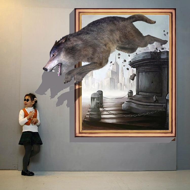 Featured Image Of Wolf 3D Wall Art