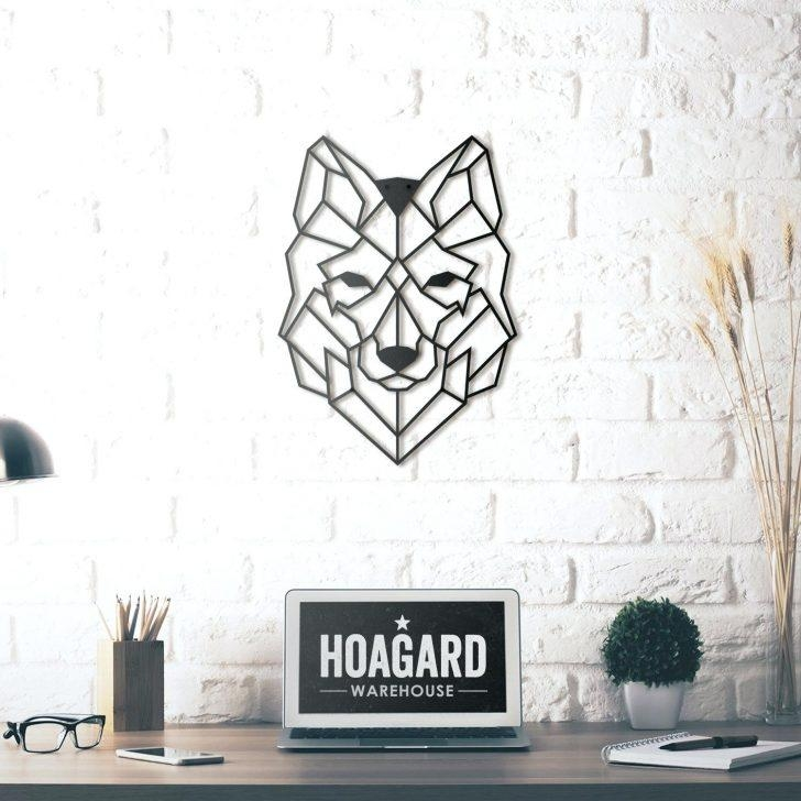 Interesting Zoom Wolf Wall Decor Art Howling Wolf Metal Wall Art Regarding Wolf 3D Wall Art (Image 9 of 20)