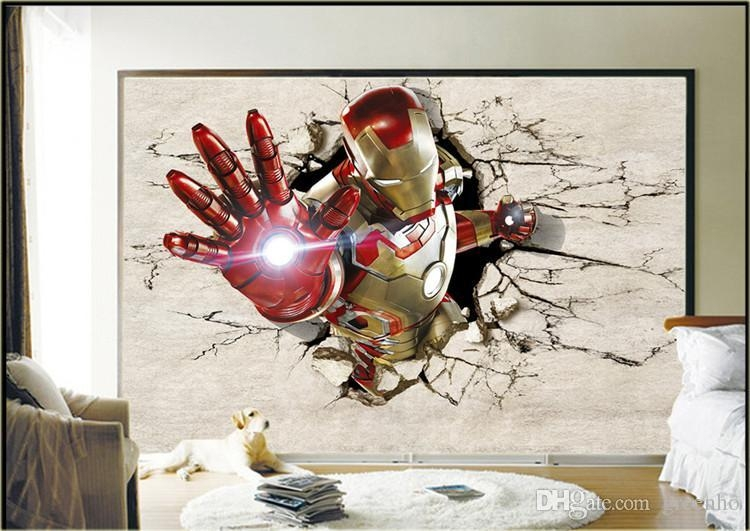 Iron Man Bedroom | Eldesignr Regarding Iron Man 3D Wall Art (Image 12 of 20)