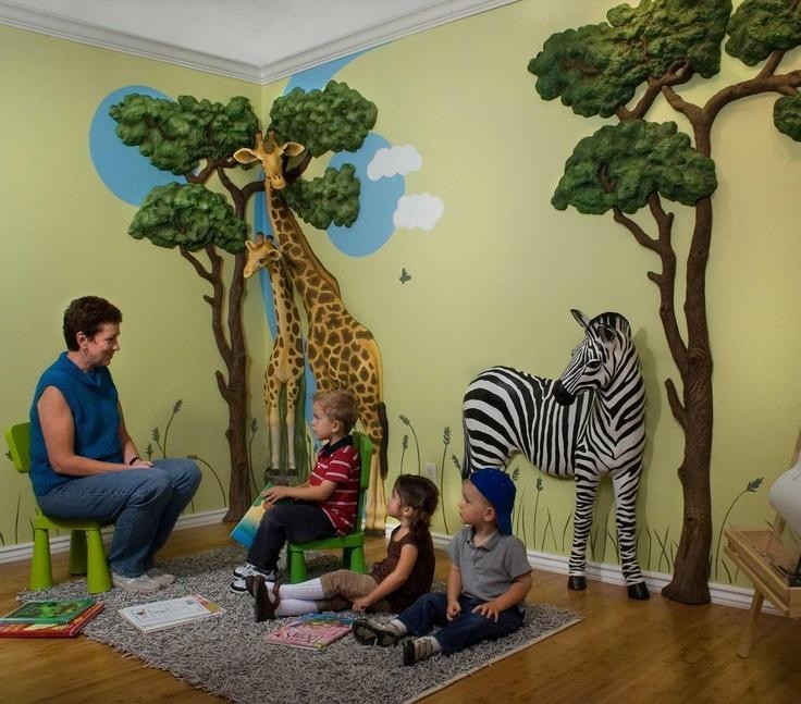 Jungle Theme Wall Decor Interior Home Inspiration Spectacular Pertaining To 3D Wall Art For Baby Nursery (Image 12 of 20)