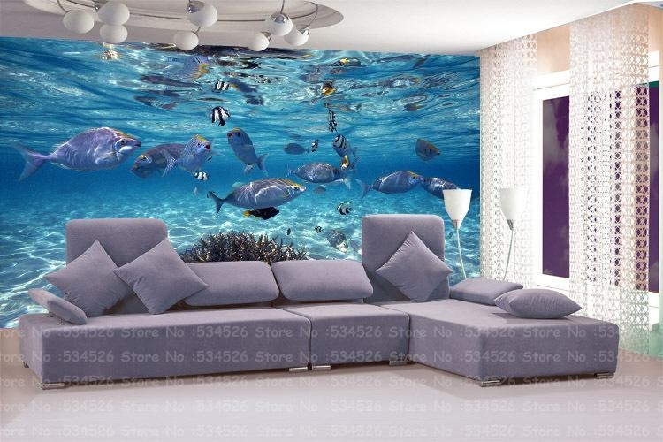 Large 3D Environmental Mural Papel De Parede Pvc Wall Panels Mural Intended For 3D Plastic Wall Panels (Image 8 of 20)