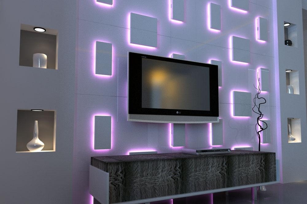 Lighted Wall Art With Sound : New Lighting – Dramatic Focal Point Pertaining To 3D Wall Art With Lights (Image 9 of 20)