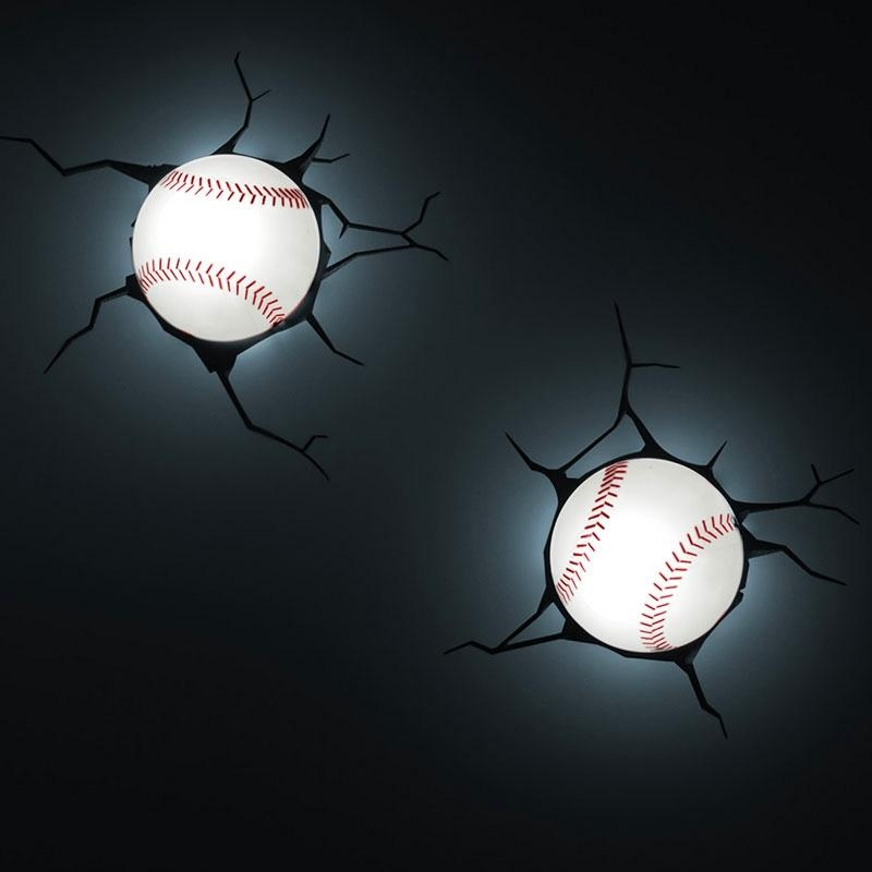 Lighting – Wall Lights – Contemporary Simple Fashion Led 3D In 3D Wall Art With Lights (View 12 of 20)