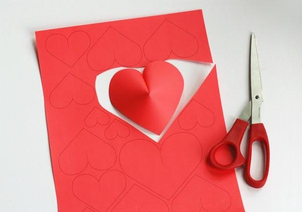 Make A Wall Of Paper Hearts | How About Orange Regarding Heart 3D Wall Art (Image 14 of 20)