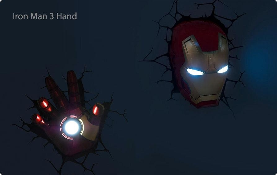 Featured Image of 3D Wall Art Iron Man Night Light