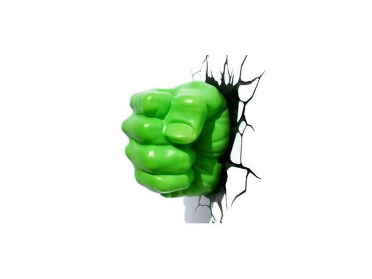 Marvel Comics 3D Led Wall Decal – Hulk Fist – Bigbadtoystore Pertaining To Hulk Hand 3D Wall Art (Image 12 of 20)