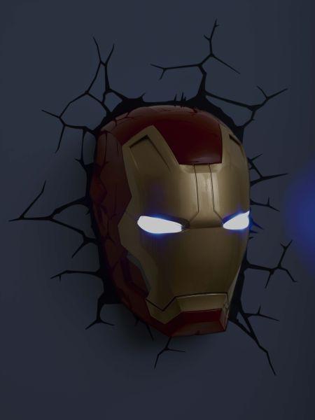 Marvel Iron Man 3 Mask 3D Light Merchandise | Zavvi In Iron Man 3D Wall Art (Image 15 of 20)