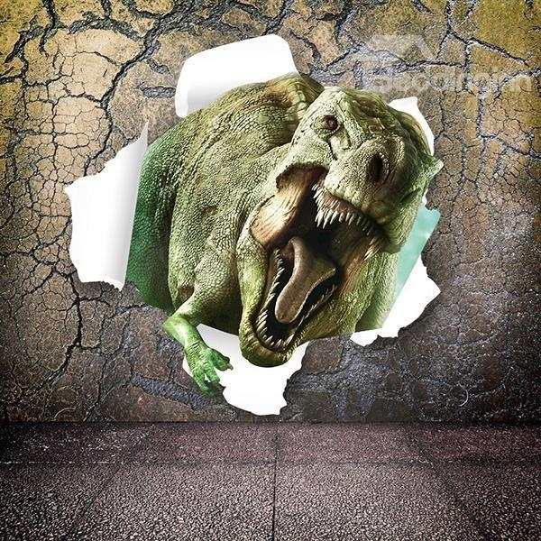 Marvelous Dinosaur Breaking Through Walls Removable 3D Wall Regarding Dinosaurs 3D Wall Art (Image 15 of 20)