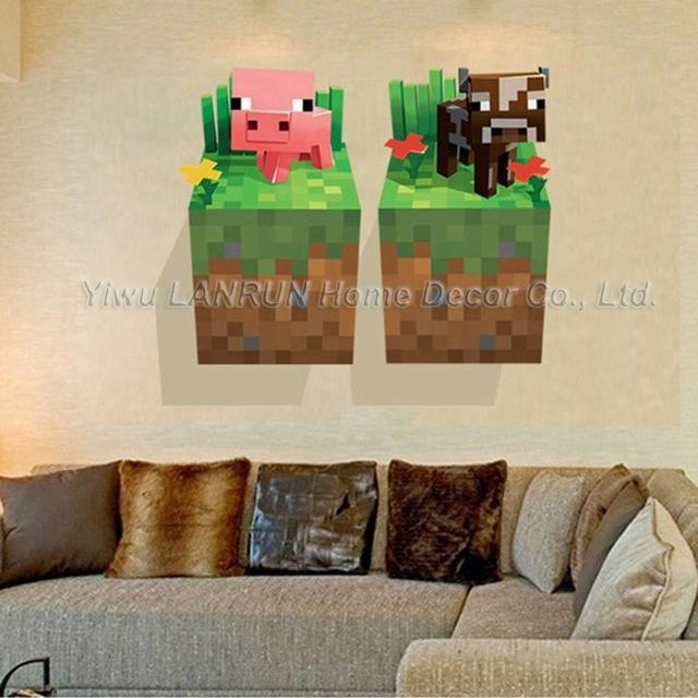 Minecraft 3D Wall Art Sticker Decal Mural Pertaining To Minecraft 3D Wall Art (Image 8 of 20)