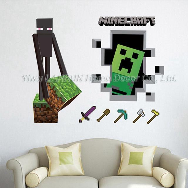 Minecraft 3D Wall Art Sticker Decal Mural Regarding Minecraft 3D Wall Art (Image 9 of 20)