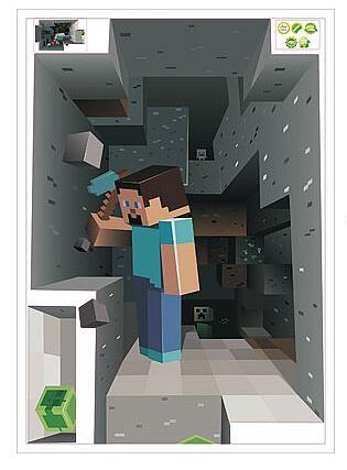 Minecraft 3D Wall Decal Sticker | Boys Room | Wall Decals Pertaining To Minecraft 3D Wall Art (Image 15 of 20)