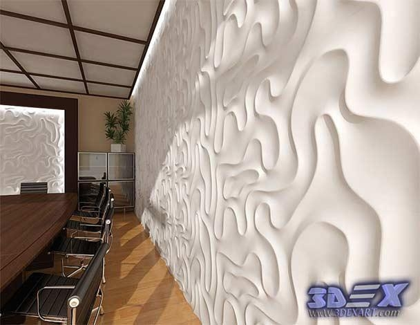 Modern 3D Decorative Wall Panels And Covering Texture With 3D Plastic Wall Panels (Image 11 of 20)
