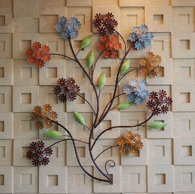 Modern Home Decoration Creative 3D Metal Wall Art Hand Made Throughout Umbra 3D Flower Wall Art (View 13 of 20)