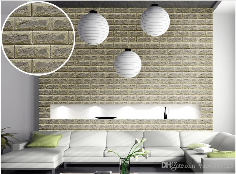 Moisture Proof 3D Wall Panel Xpe Green Faux Brick Wall Panel For For 3D Brick Wall Art (Image 18 of 20)