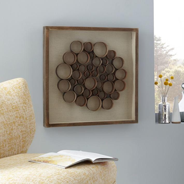 Nature Of Wood Wall Art – Gray | West Elm With Regard To Wood 3D Wall Art (Image 8 of 20)