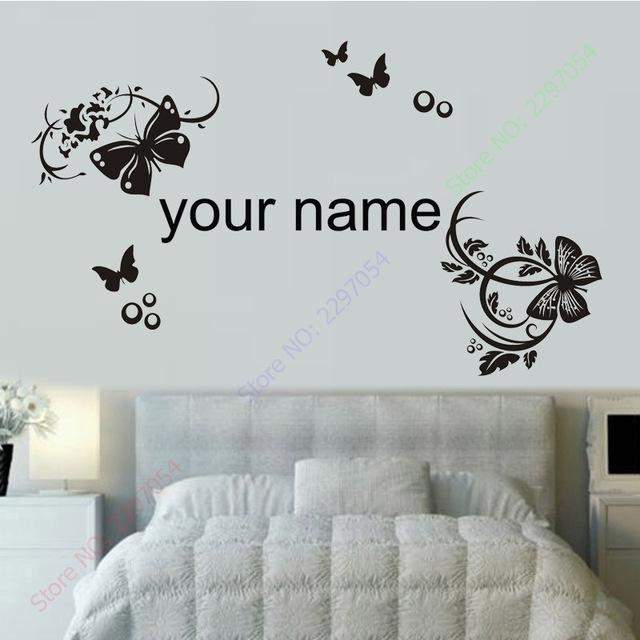 New 3D Butterfly Wall Stickers For Kids Rooms Custom Name Intended For 3D Removable Butterfly Wall Art Stickers (View 14 of 20)