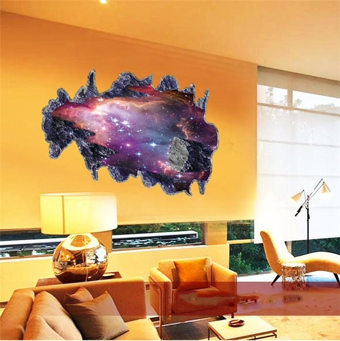 Wall Art: Space 3D Vinyl Wall Art (#14 of 20 Photos)