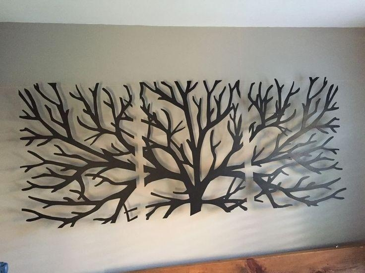 New Metal Wall Art Decor 3D Sculpture 3 Piece Tree Brunch 2M X 1M Pertaining To 3D Artwork On Wall (Photo 15 of 20)