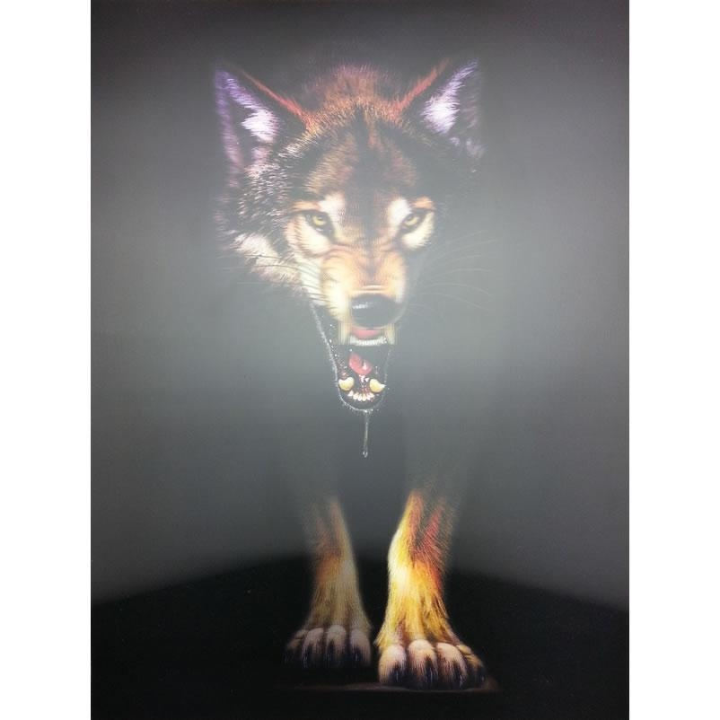 New Wolf Lenticular 3D Picture Animal Poster Painting Home Decor With Wolf 3D Wall Art (Photo 4 of 20)