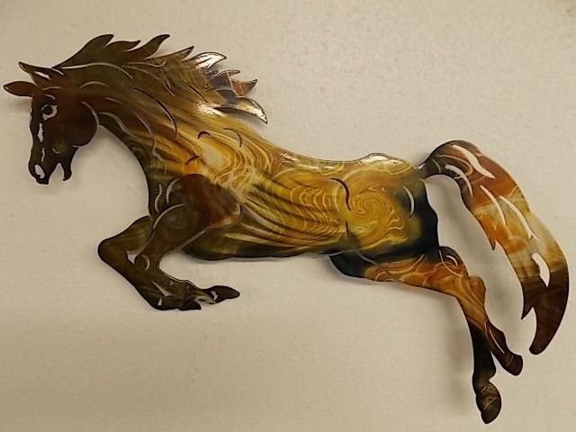 Next Innovations Wa3Dhorse 14 X 23 3D Horse Refraxions Metal Wall Throughout 3D Horse Wall Art (Image 13 of 20)