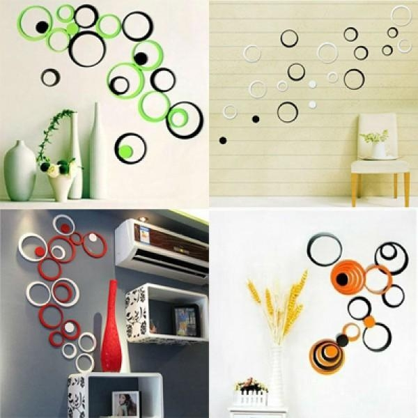 On A Budget? Decorate Walls With Inexpensive 3D Wall Art At Art Gaga For Circles 3D Wall Art (Image 16 of 20)