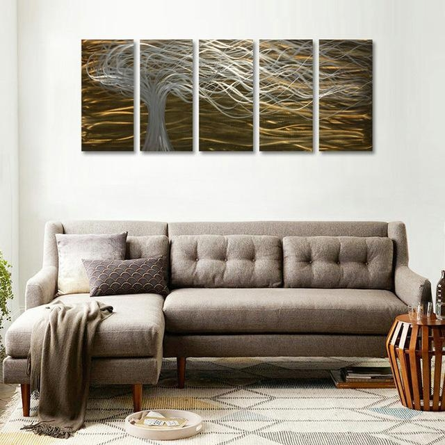Online Shop Original Handcraft Modern Abstract Style Metal Wall Inside 3D Modern Wall Art (Image 15 of 20)