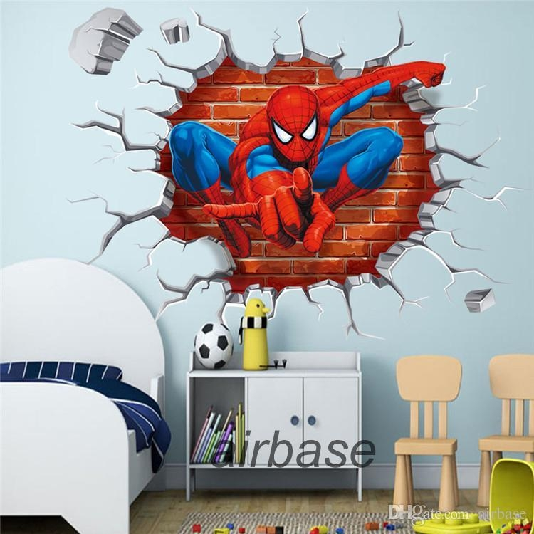 Online Wholesale Super Hero Movie Series 3D Wall Sticker Spider With 3D Wall Art Wholesale (Image 10 of 20)