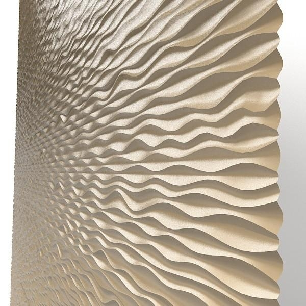 Panel Decorative 3D Wave Mdf Modern Laser Perforated Wall Board With Regard To Waves 3D Wall Art (Image 11 of 20)